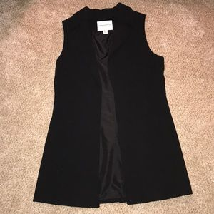 Katherine Barclay black sleeveless long blazer XS